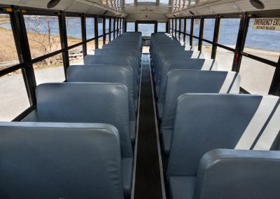 48 Passenger Yellow School Bus Interior 1